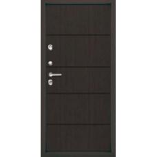 Дверь металлическая ДС ТЕРМО Италия Белое дерево, темная  (960, 860) правая, левая