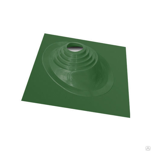 Кровельный  уплотнитель дымохода №1 75-200mm ЗЕЛЕНЫЙ