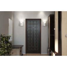 Дверь металлическая Черный шелк/ квадраты/ венге, 860, 960 мм, левая, правая.