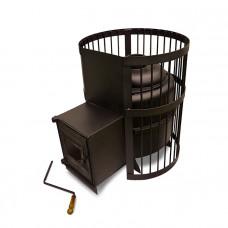 Печь Тигра чугунная в клетке СТАНДАРТ 30м3 В/К (ДТ-4С со стеклом)