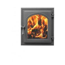 Дверка каминная Везувий 220 стекло (антрацит), герметичная