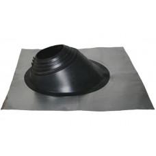 Кровельный уплотнитель дымохода угловой № 1 силикон 75-200 mm чёрный