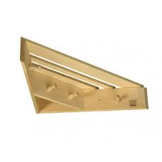 Полка-вешалка угловая из лиственных  пород бытового назначения (460х460х11)
