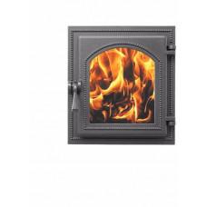 Дверка каминная Везувий 270 стекло (антрацит), герметичная