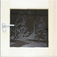 Окно для бани 30х30 термозакаленное стекло 8мм