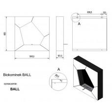 Биокамин настенный Kratki (Кратки) Ball (Бол)