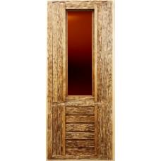 Дверь ДСС из липы (1800х700) остекленная (270х930)