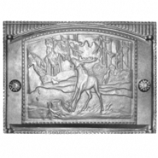 Дверка каминная Рубцовск ДТК-2 с рисунком, краш. (375х300)