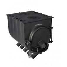 """Печь г\г """"Бренеран"""" АОТ-08 т005 плита 2конф, отопительно-варочная (до140м3)."""