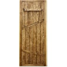 "Дверь ДГС ""Банька"" глухая из липы (1800х700)"