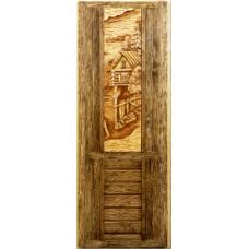 Дверь ДПС панно 3D (260х930) из липы (1800х700)