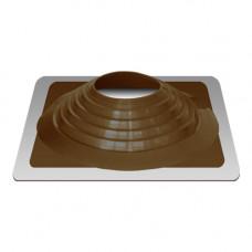 Кровельный уплотнитель дымохода прямой № 9 силикон 254-467 mm коричневый