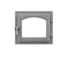 Дверка каминная Везувий 260 под стекло (не крашеная), герметичная