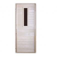 Дверь глухая из липы (1600х700) со стеклом