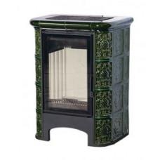 Печь-камин ЭкоКамин София изразец Барокко зеленая