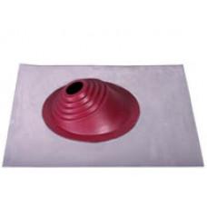 Кровельный уплотнитель дымохода угловой № 1 силикон 75-200 mm красный