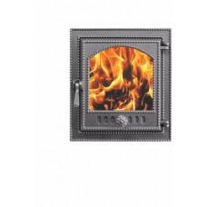 Дверка каминная Везувий 210 стекло (антрацит), герметичная