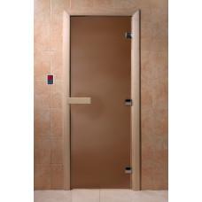 "Дверь для сауны ""Теплая ночь"" (бронза матовое) 190х70"