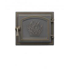 Дверка каминная Везувий 261 Бронза, герметичная