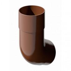 Колено трубы 135° VERAT (коричневый)